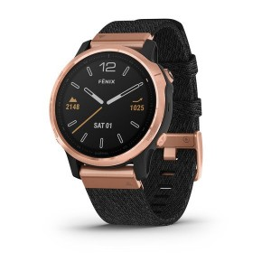 GARMIN FENIX 6S SAPPHIRE Rose Gold - Bracelete Heathered Nylon - 010-02159-37